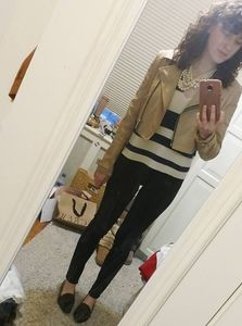 Cropped faux leather jacket